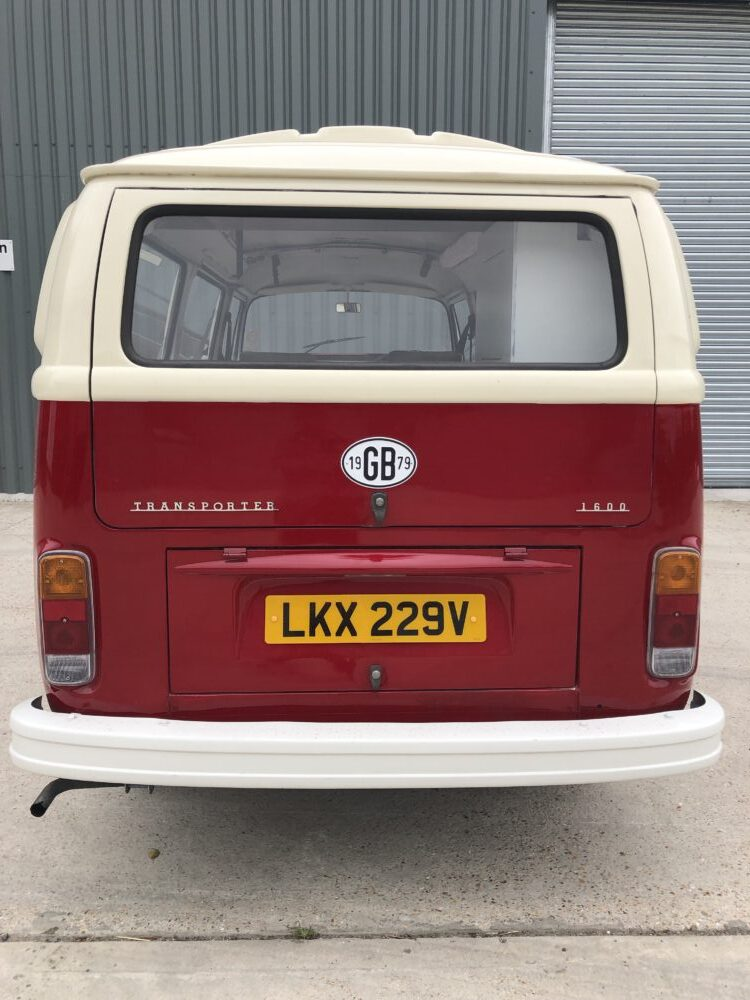 VW T2 camper rear view - After