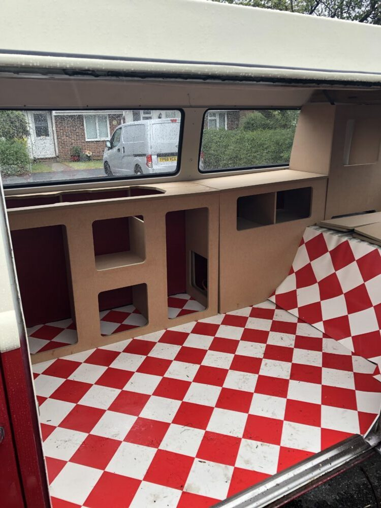 VW T2 Camper cupboards