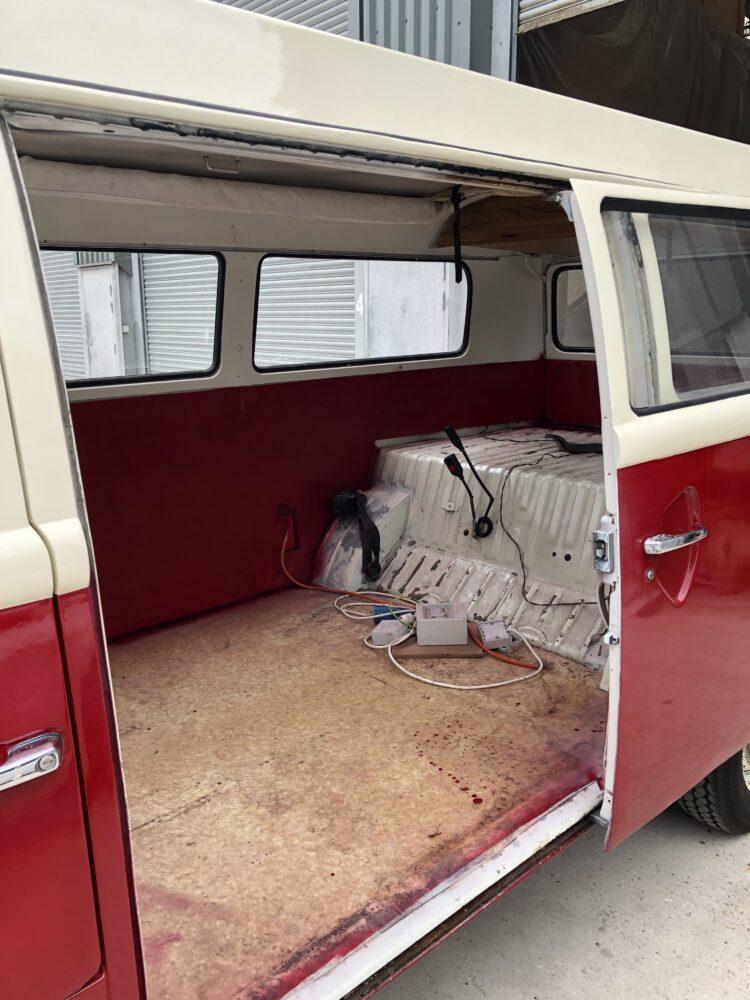 VW T2 camper inside panels