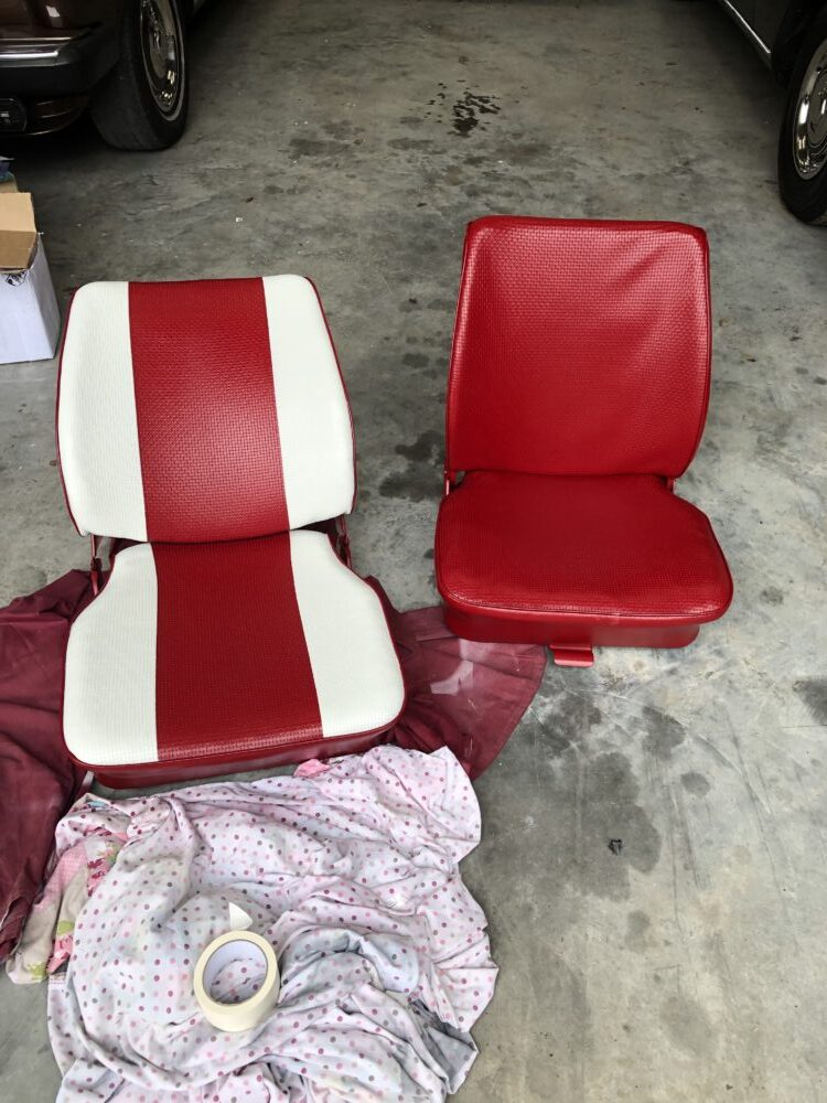 VW T2 Seat painting