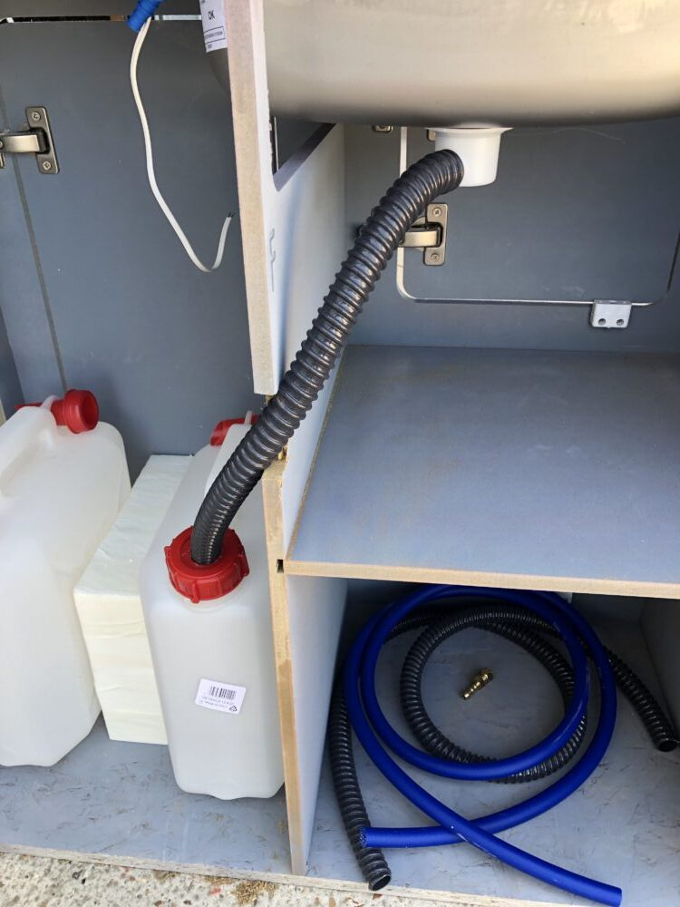 VW T2 camper Smev 9222 sink waste fitted