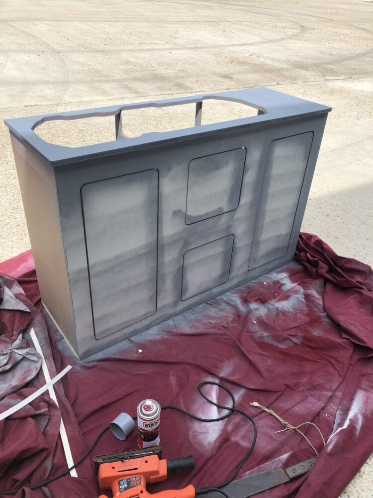 VW T2 Camper Cupboards re painting