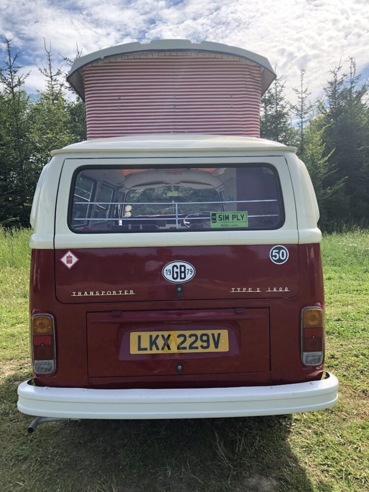 VW T2 Camper LPG Badge on rear