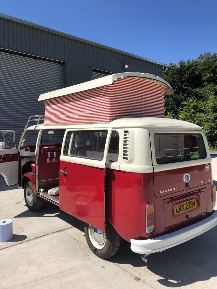 VW T2 Camper roof clean