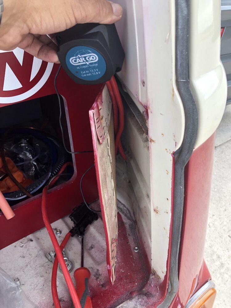 VW T2 camper leisure battery wiring